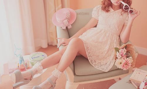 all pink dress